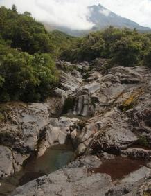 New Zealand 2014_1049 Wilkie's Pools and Mt Taranaki panorama
