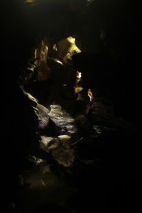 Rocks at end of Middle cave