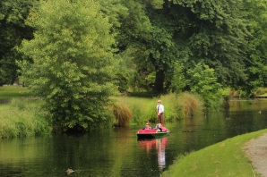Punting through the Botanic gardens